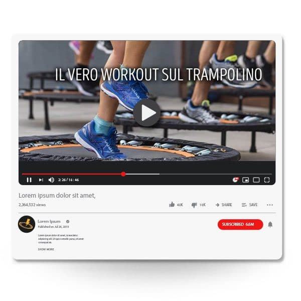 corso online trampolino elastico professionale power bound