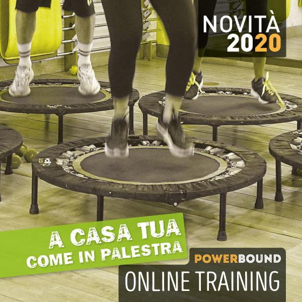 allenamento online sul trampolino power bound 2