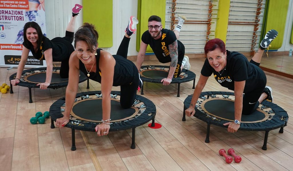 divertimento allenamento online trampolino powerbound