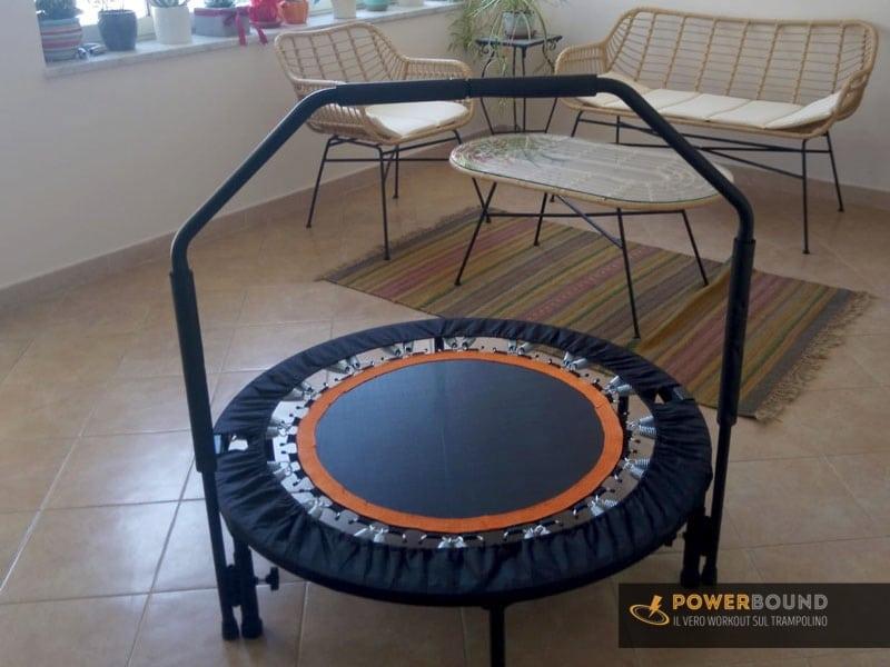 home fitness trampolino in casa